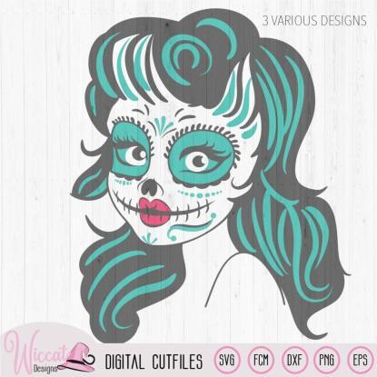 Sugar Skull  Woman svg,  Día de Muertos