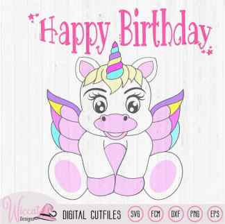 Rainbow Baby Unicorn with wings, Baby Birthday