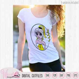 Banana cartoon girl svg, Fruit girl