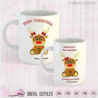 Girl Reindeer svg, Baby girl pregnant svg, baby deer svg, quote svg, dxf cut file, Christmas svg, scanncut, svg cricut, fcm file