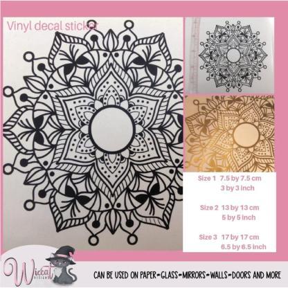 Mandala decal, Vinyl sticker,