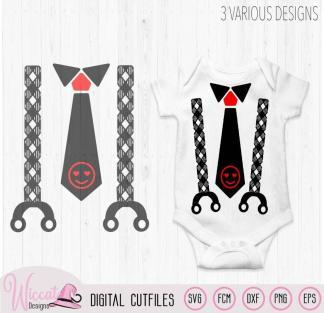 Valentine Baby neck tie and suspender,