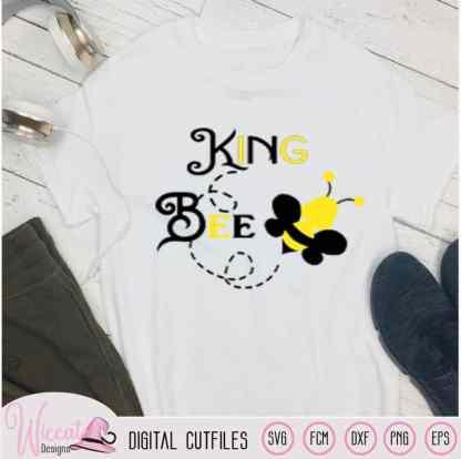 King bee svg, Bumblebee svg, Man bee svg, kids svg, Dad shirt svg, Daddy baby svg, holiday shirt, svg cricut, scanncut fcm, vinyl craft