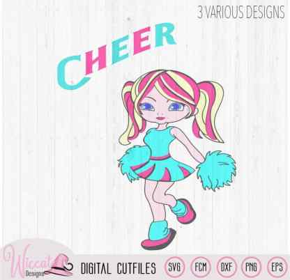 Cheerleader girl svg, svg files for girls, cheering svg, svg design, cut file, cheer girls, teen svg, scanncut fcm, cricut svg, cartoon svg