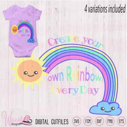 Make your own rainbow quote svg,