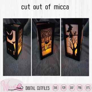 Happy Halloween lantern template,