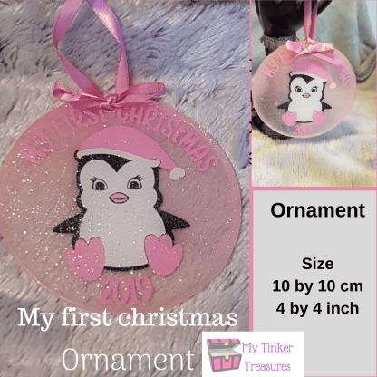 Christmas ornament, My first christmas