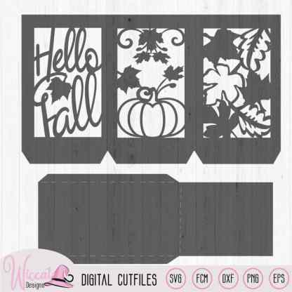 Hello fall lantern template,