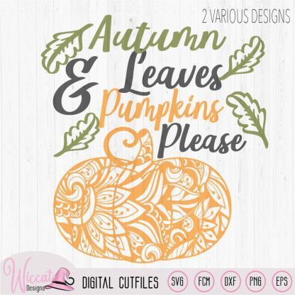 Autumn leaves, Doodle Pumpkin