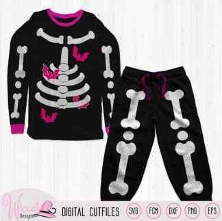 Girl skeleton with bats, halloween costume