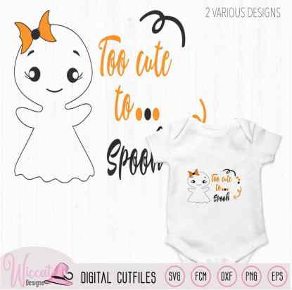 Too Cute to spook, Cute ghost quote,