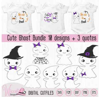 Cute ghost bundle, Ghost quotes