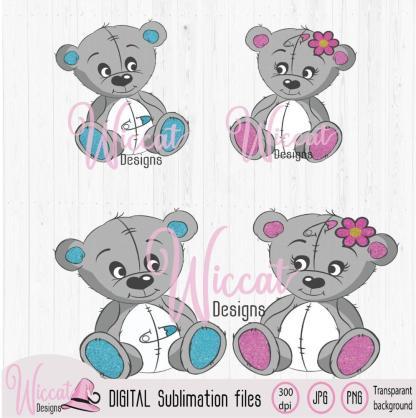 Baby beer jongen en meisje Sublimatie