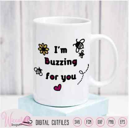Valentine Bee bundle, Bumblebee cut file