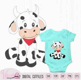 Baby boy cow for baby nursery
