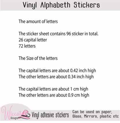 Funny letters, Alphabet stickers,