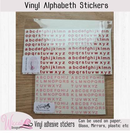 Alfabet abc letter stickervel, modern vinyl letters,