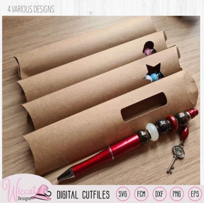 Pen pillow box, Pencil case template