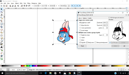 How to trace an image to make a cut file