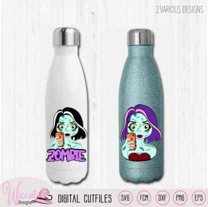 zombie girl water bottles