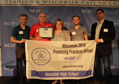2018 Necedah High School Promising Practice Award Recipient