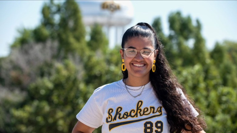 Valeria Paunetto, a first-year student, chose Wichita State University in part for its Hispanic student population so she could walk on campus 'with pride as a Latina woman.'
