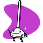 Toilet plunger, animated