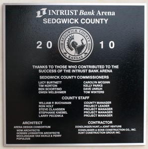 Intrust Bank Arena commemorative monument