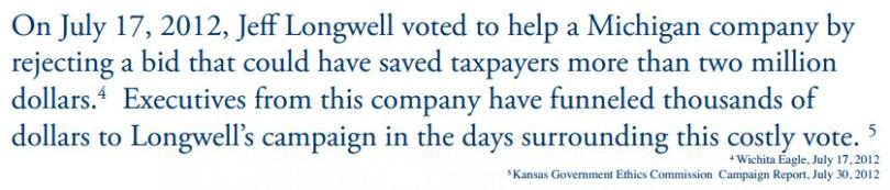 Jeff Longwell vote to help Michigan Company
