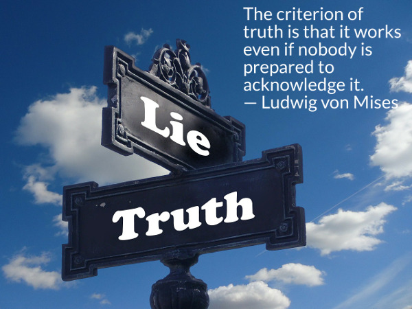 The criterion of truth - Mises