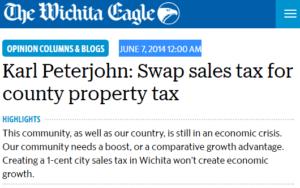 Peterjohn headline sales tax 2014-06-07