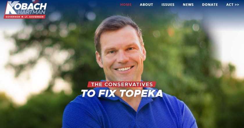 From Pachyderm: Kris Kobach, Candidate for Kansas Governor