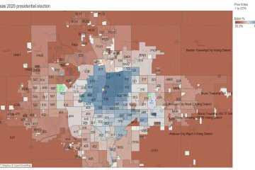 Visualization: Kansas 2020 presidential election