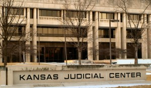 Kansas Judicial Center in snow