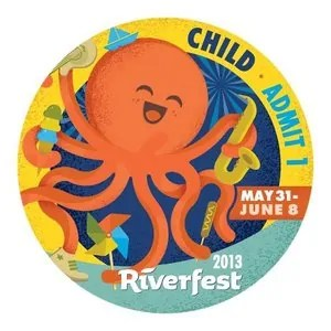Wichita Riverfest Child Button