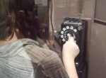 Rotary dial phone booth at Wichita Sedgwick County Historical Museum