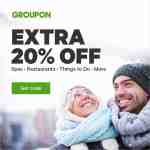 Groupon sale: extra 20% off local deals