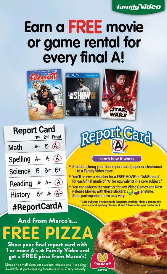 photo relating to Marco's Pizza Printable Coupons identified as Absolutely free video clip or movie sport condominium at Loved ones Online video for just about every A