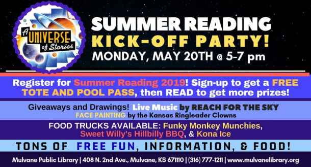 Summer Reading Kickoff Party in Mulvane