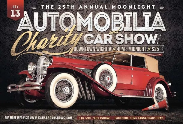 25th annual Automobilia Moonlight Car Show and Street Party flier
