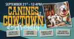 Canines at Cowtown 2019 flyer