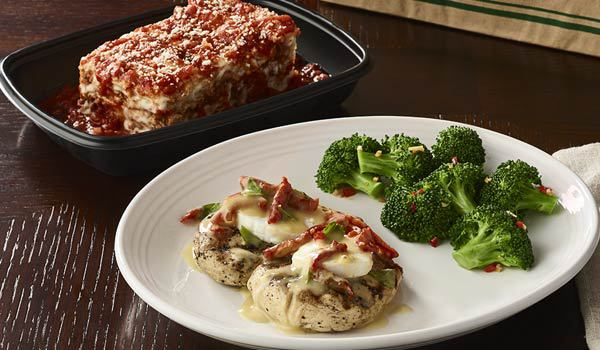 FREE take-home lasagna with chicken order at Carrabbas