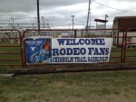 Clearwater rodeo sign at Chisholm Trail Saddle Club