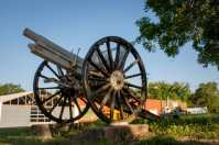 A military memorial cannon in Cottonwood Falls Kansas