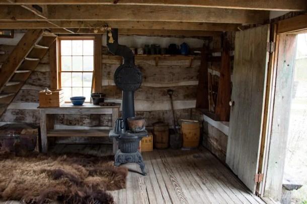 Trappers cabin at Old Cowtown Museum