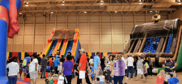 Wichita Kidfest activities and inflatables
