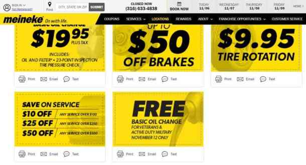 Free oil change for veterans military at participating Meineke 2018