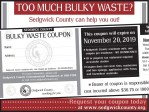 Sedgwick County Trash Coupon (aka dump coupon)