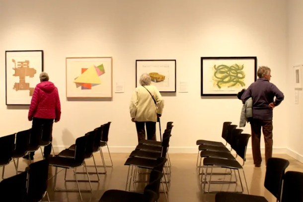 Senior Wednesday gallery walk at Ulrich Museum of Art in Wichita