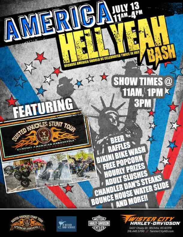 Twister City America Hell Yeah Bash flyer